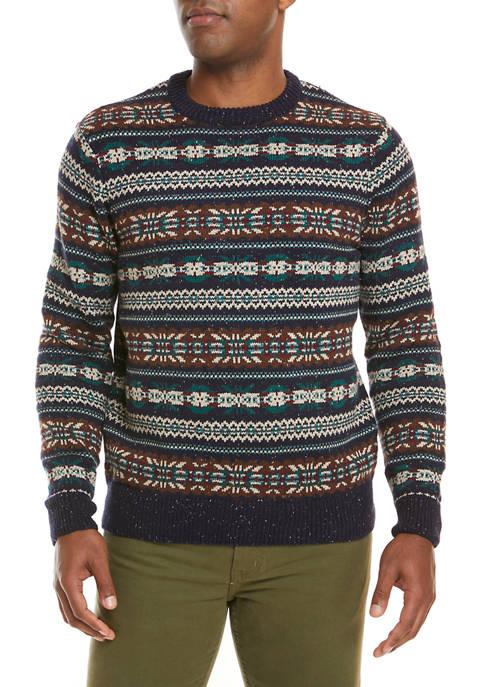 Crown & Ivy™ Fair Isle Printed Sweater