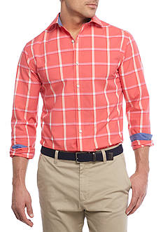 Crown & Ivy™ Long Sleeve Stretch Non-Iron Spread Collar Button Down Shirt
