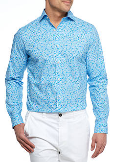 Crown & Ivy™ Long Sleeve Stretch Spread Collar Shirt