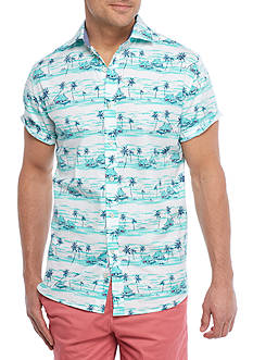 Crown & Ivy™ Short Sleeve Stretch Spread Collar Shirt