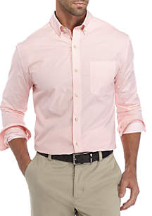 Long Sleeve Diamond Print Button Down Shirt