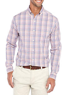 Long Sleeve Non Iron Stretch Multi Gingham Shirt