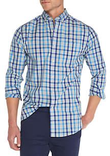 Long Sleeve Iron Plaid Button Down Shirt