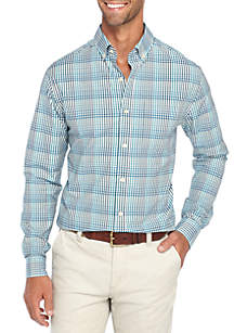 Long Sleeve Non Iron Stretch Multi Gingham Shirt