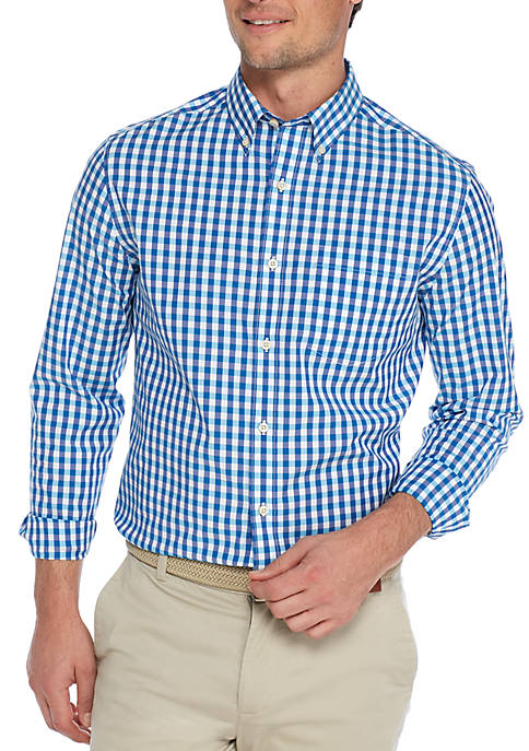 Crown & Ivy™ Long Sleeve Gingham Button Down