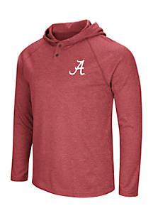 Alabama Crimson Tide Hooded Henley Long Sleeve Tee