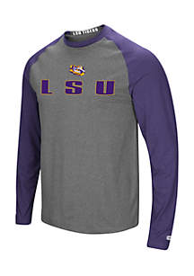 LSU Long Raglan Sleeves Tee