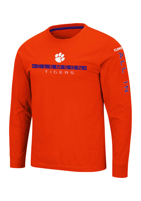 Colosseum Athletics NCAA Clemson Tigers Blitzgiving Long Sleeve