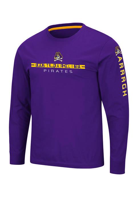 Mens NCAA ECU Pirates Long Sleeve T-Shirt