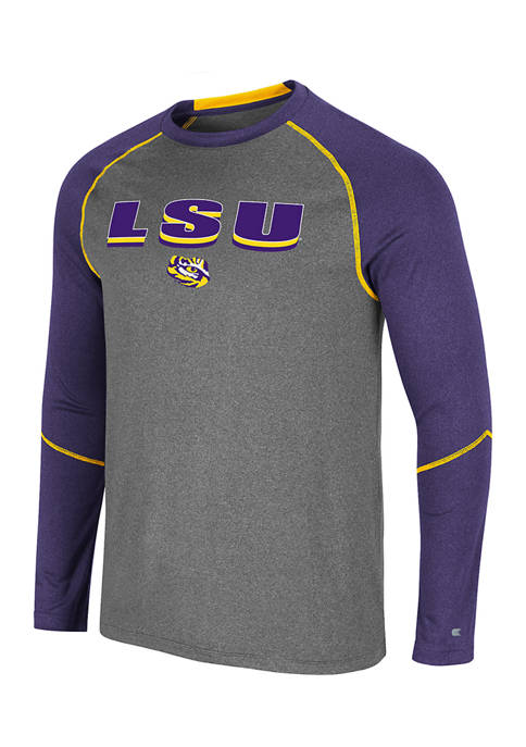 NCAA LSU Tigers George Long Sleeve Graphic T-Shirt
