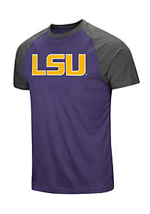 Short Sleeve LSU The Heat Raglan Tee