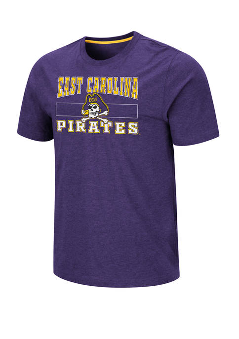 Mens NCAA East Carolina University Pirates Swanson Short Sleeve Graphic T-Shirt