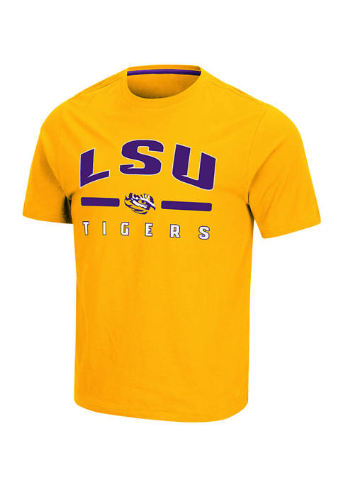 Colosseum Athletics NCAA LSU Tigers Short Sleeve Relaxed