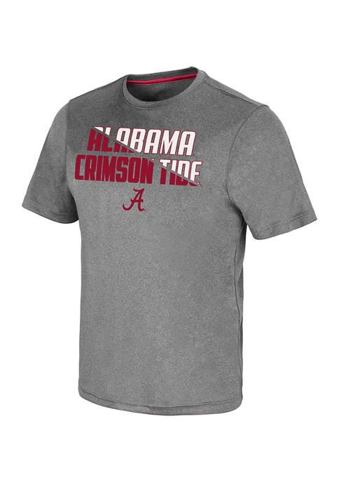 NCAA Alabama Crimson Tide Rubberized Logo Graphic T-Shirt