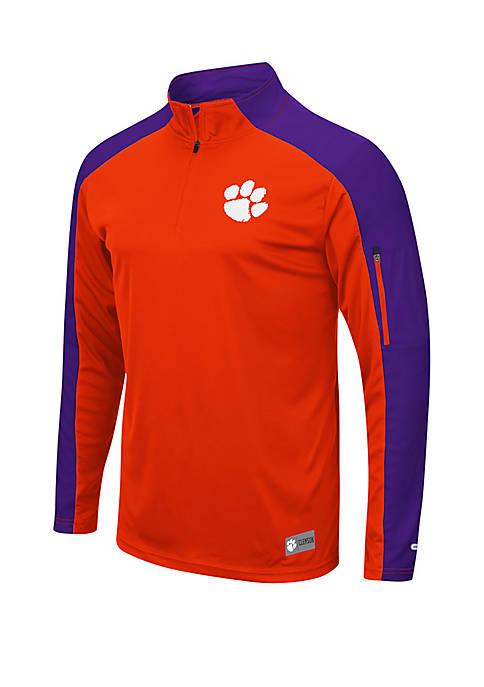 Colosseum Athletics Clemson Tigers 1/4 Zip Wind Shirt