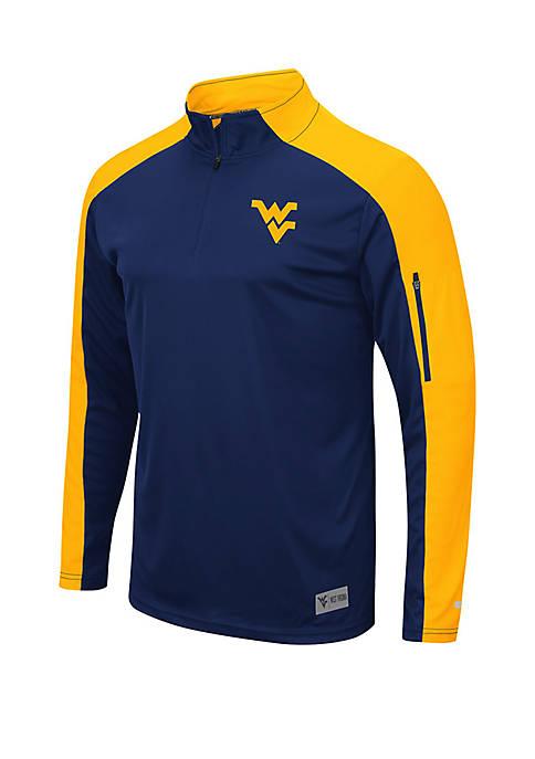 WVU Color Block Zippered Windshirt