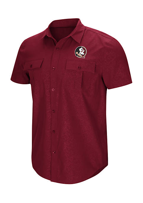 Colosseum Athletics Short Sleeve Florida State Roberto Woven