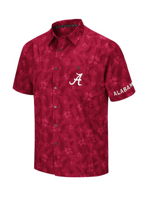 Mens NCAA Alabama Crimson Tide Molokai Camp Shirt