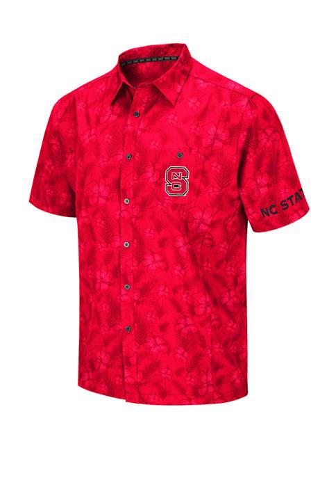 NCAA Mens NC State Wolfpack Molokai Camp Shirt