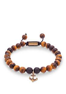 Gold-Tone Anchor Charm Slider Bracelet