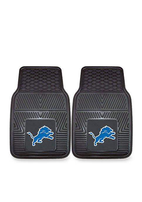 Fanmats NFL Detroit Lions 2-Piece Vinyl Car Mat