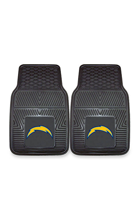NFL San Diego Chargers 2pc Vinyl Car Mat Set