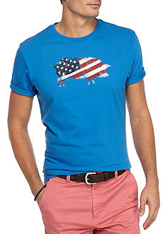 Crown & Ivy™ Short Sleeve American Flag Graphic Tee