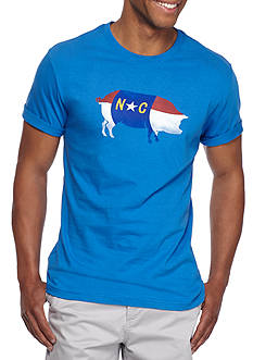 Crown & Ivy™ Short Sleeve North Carolina Flag Graphic Tee