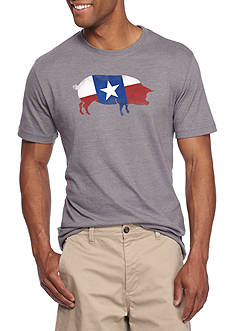 Crown & Ivy™ Short Sleeve Texas Flag Graphic Tee