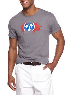 Crown & Ivy™ Short Sleeve Tennessee Flag Graphic Tee
