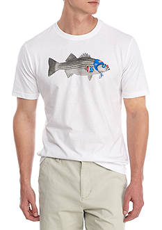 Crown & Ivy™ Short Sleeve Olympic Fish Graphic Tee
