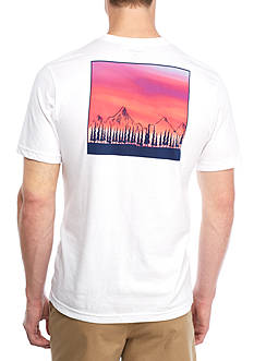 Crown & Ivy™ Short Sleeve Sunset Graphic Tee
