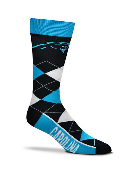 Carolina Panthers - Argyle Crew Socks - Single Pair