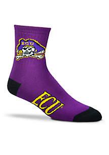 ECU Quarter Socks-Single Pair