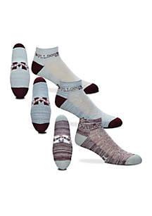 Mississippi State Bulldogs Heathered Ankle Socks - 3-Pack