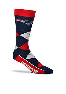 New England Patriots - Argyle Crew Socks - Single Pair