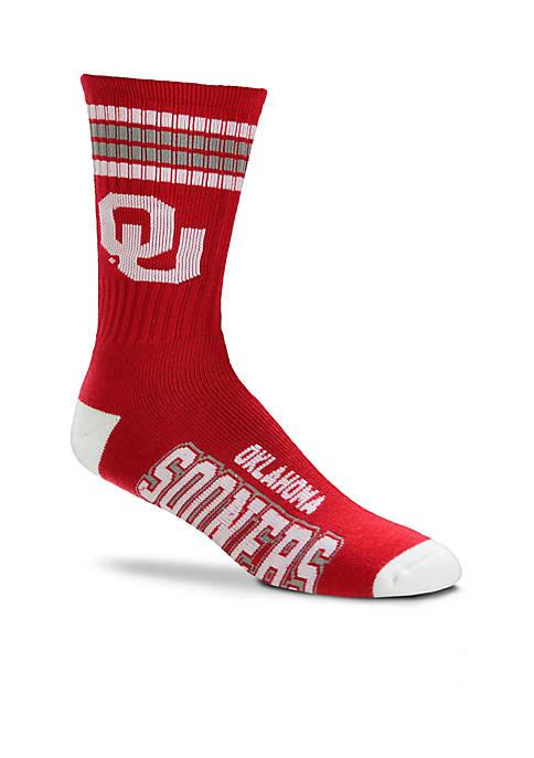 OU Stripe Quarter Socks