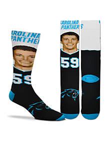 Panthers Selfie Player Socks - Kuechly