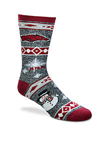 Arkansas Razorbacks Holiday Motif Socks