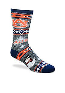 Auburn Tigers Holiday Motif Socks
