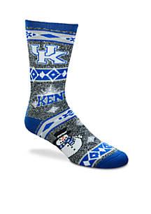 Kentucky Wildcats Holiday Motif Socks