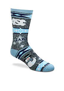 North Carolina Tar Heels Holiday Motif Socks