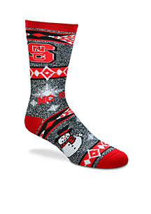 NC State Wolfpack Holiday Motif Socks
