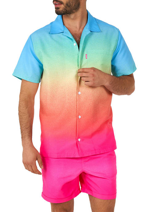 OppoSuits Funky Fade Summer Shirt and Shorts Set