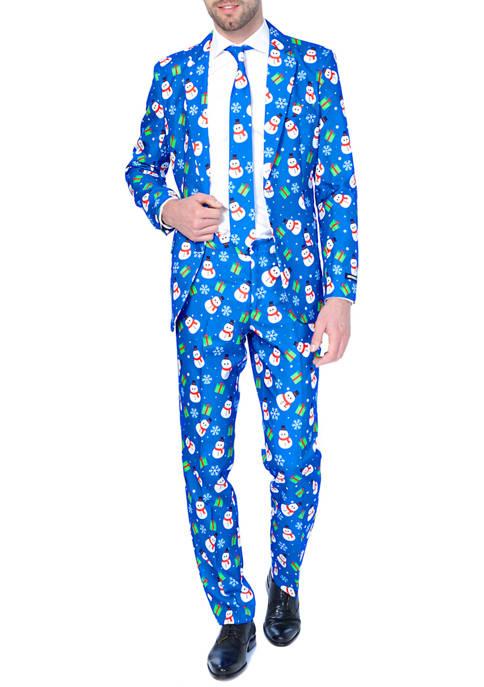Suitmeister Christmas Blue Snowman Suit