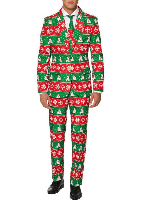 Suitmeister Retro Fair Isle Christmas Suit