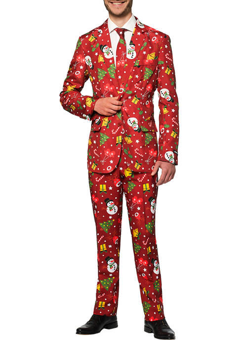Suitmeister Christmas Red Icons Light Up Suit
