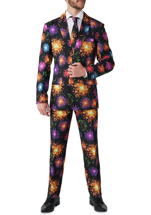 Suitmeister Fireworks Black New Years Party Suit