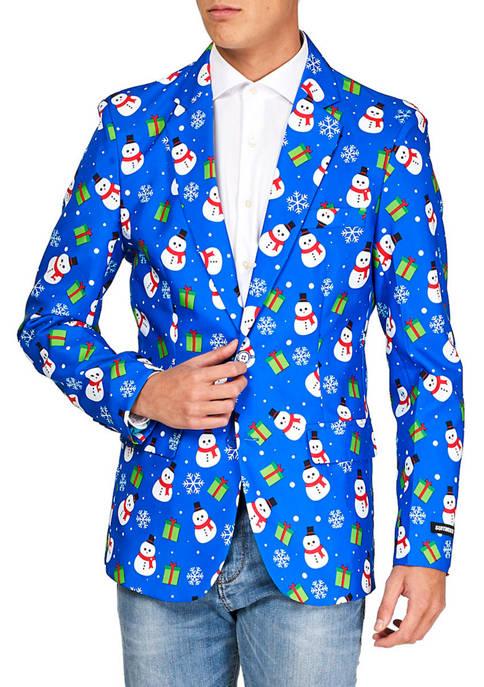 Blue Snowman Christmas Blazer