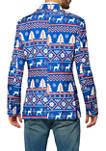 Christmas Blue Nordic Blazer